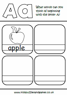 worksheets words beginning with kids puzzles and games