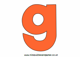 photograph relating to Letter G Printable named Letter G Printables - Children Puzzles and Online games