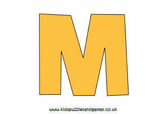 graphic regarding Letter M Printable called Letter M Printables - Children Puzzles and Online games