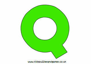 picture about Letter Q Printable identified as Letter Q - Little ones Puzzles and Online games