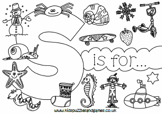 Download this free Floral Alphabet Letter S Coloring Pages ... | 225x318
