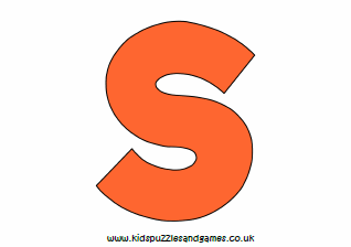 S Coloured Uppercase Printable Kids Puzzles And Games
