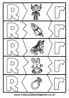 Letter R - Kids Puzzles and Games